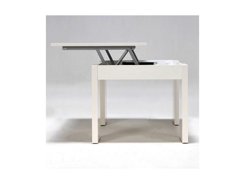 table basse relevable bois blanc newton 02629 vente de. Black Bedroom Furniture Sets. Home Design Ideas