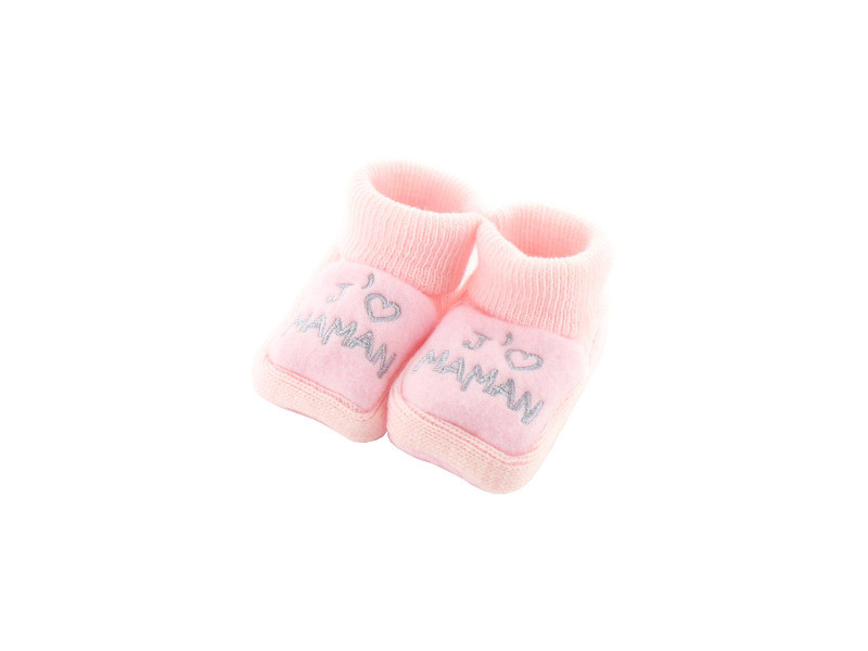 a73fbf70f907f Chaussons pour bébé 0 à 3 mois rose - j aime maman - Vente de FRUIT ...