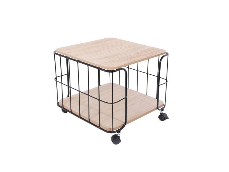 Table industrielle carrée