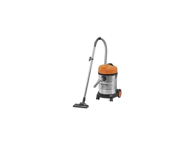 Aspirateur multi-fonction bac 17kg 30l inox orange poussière eau gravât rayon 5m
