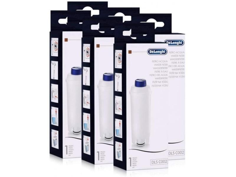 Lot de 6 filtres à eau originaux pour machines à café delonghi