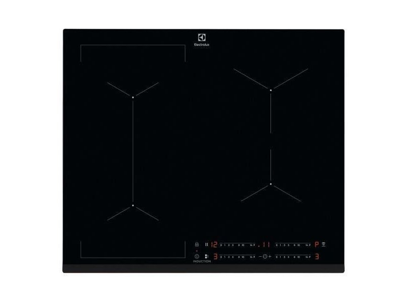 Plaque induction electrolux 7200w 59cm, ixe6453kf