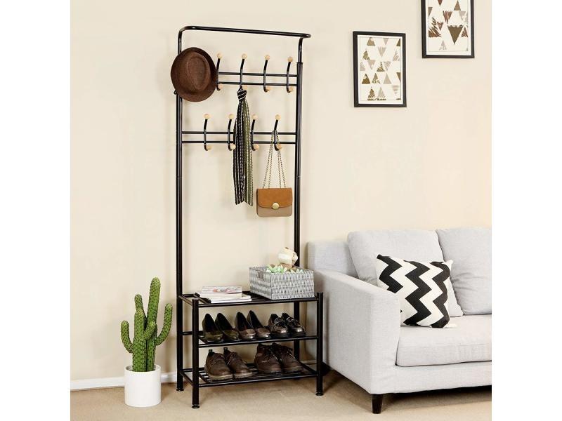 porte manteau portant v tement tag res chaussures pour. Black Bedroom Furniture Sets. Home Design Ideas