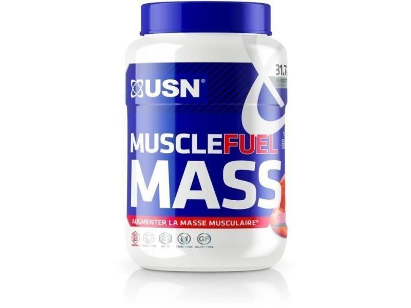 Usn prise de masse muscle fuel mass - fraise - 750g