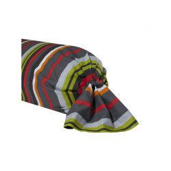 Cotonflor - taie de traversin coquelicot multicolore - 85 x 185 cm
