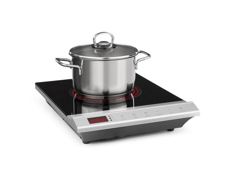 Klarstein mistercook plaque de cuisson infrarouge 90-650 °c - minuterie - 2000w - argent
