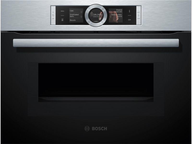 Bosch cmg636bs1 - four compact avec fonction micro ondes - 45 l - eco clean - 12 modes de cuisson - l 59,4 x p 54,8 cm - inox BOS4242002789156