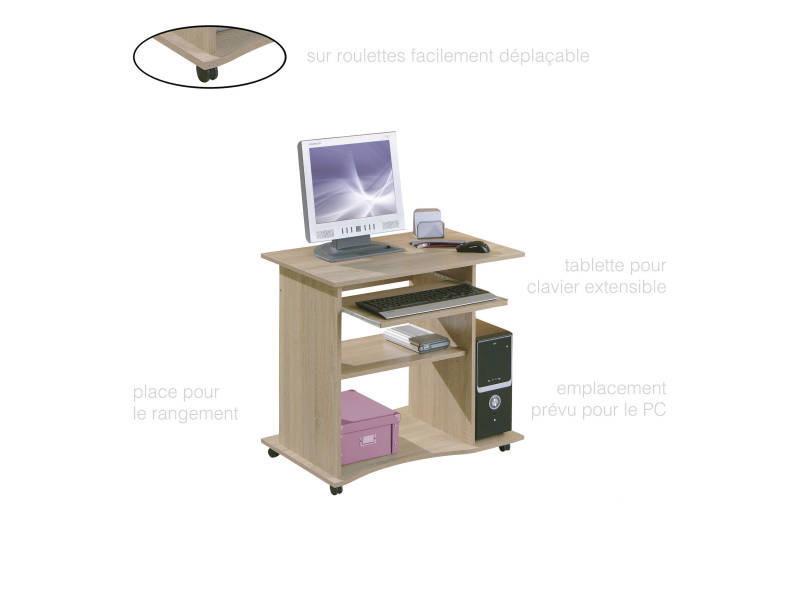 Bureau meuble informatique gain de place et pratique épuré sur