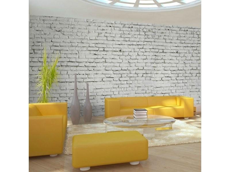 Papier peint xxl mur blanc esprit briques à l'etat pur A1-F5TNT0025-P