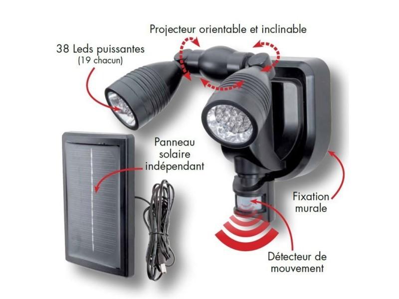 De Avec Double Détecteur Orientable 38 Solaire Lampe Projecteur Leds Yfyb6gv7