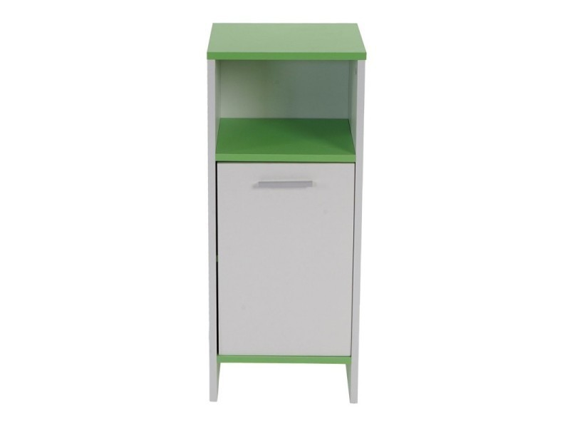 meuble de salle de bain commode 82x32x28cm blanc vert sdb04009 vente de meuble et rangement. Black Bedroom Furniture Sets. Home Design Ideas