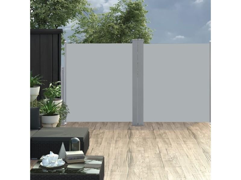 Splendide vie en extérieur serie mascate auvent latéral double rétractable de patio 170x600cm anthracite
