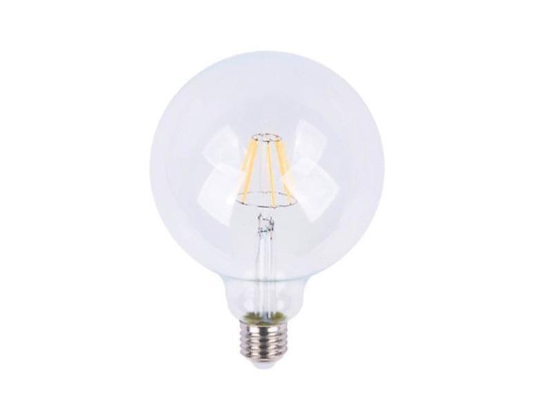 Ampoule e27 led 6w 220v cob g95 - blanc chaud 2300k - 3500k
