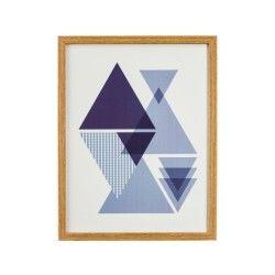 Cadre imprimé lovely - 24 x 31 - violet