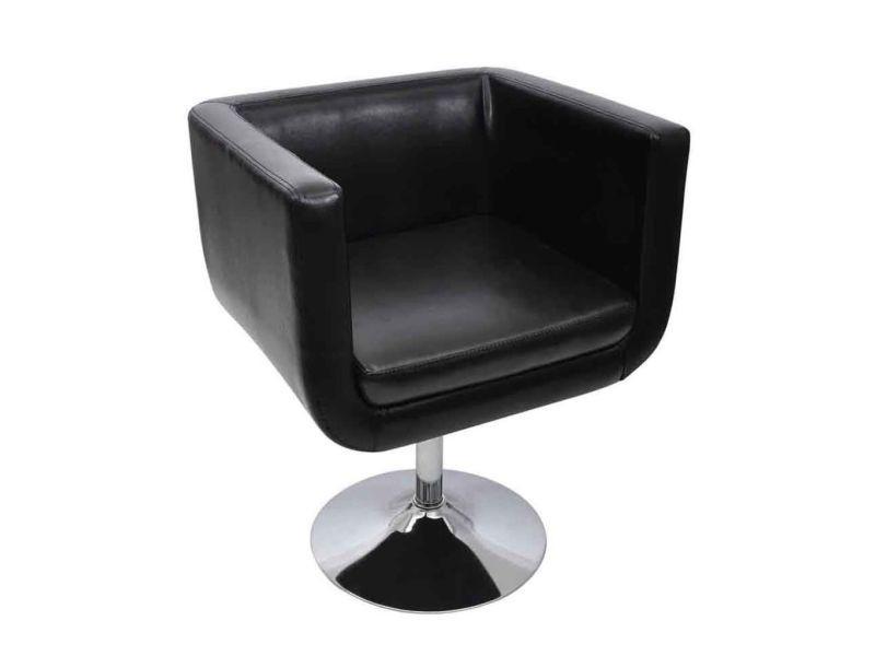 Icaverne - fauteuils club, fauteuils inclinables et chauffeuses lits ensemble chaise de bar cuir artificiel noir
