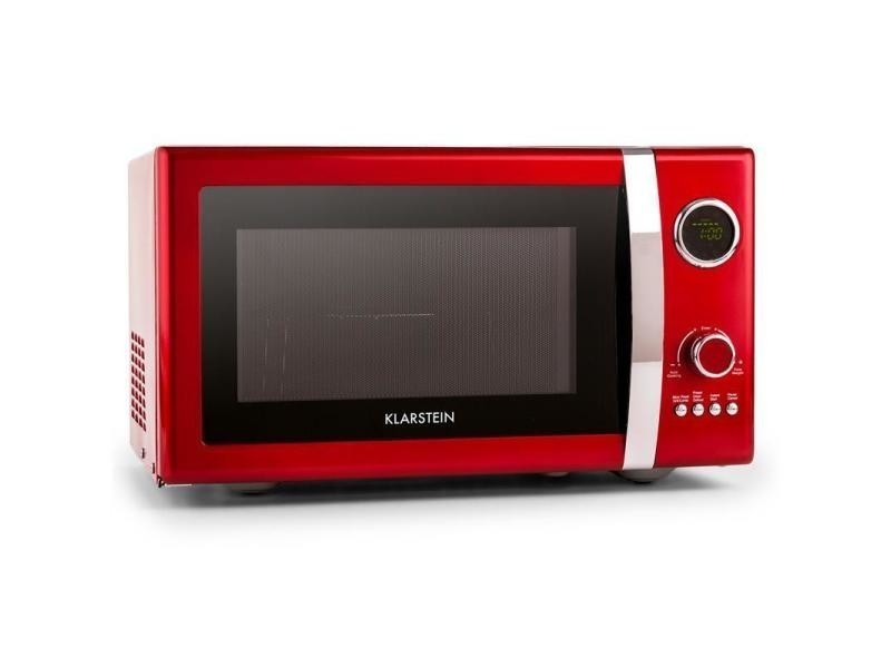 Klarstein fine dinesty four micro-onde multifonction 23l 800w -rouge