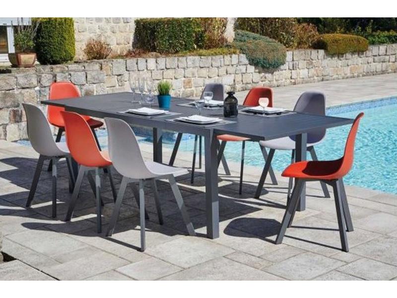Ensemble de jardin table extensible et 8 chaises en ...