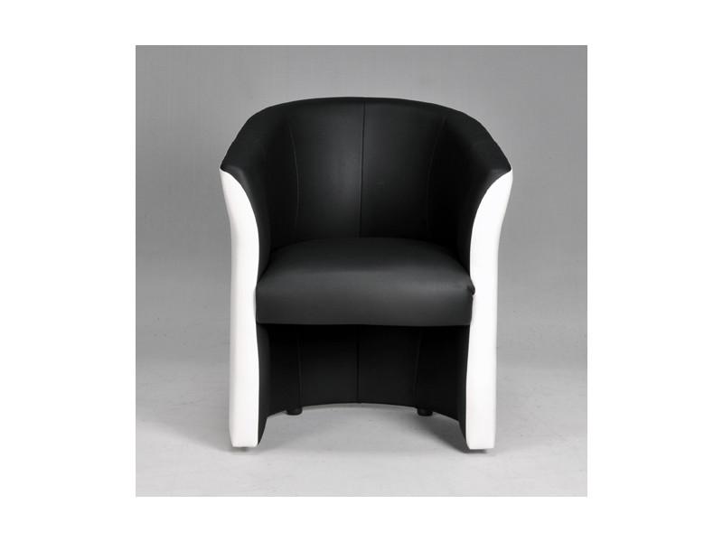 fauteuil cabriolet piero  blanc et gris  vente de tous