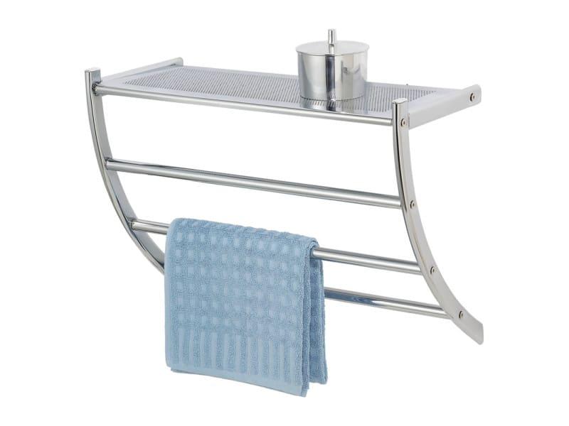 Porte serviettes pescara acier chrom vente de for Porte serviette salle de bain conforama