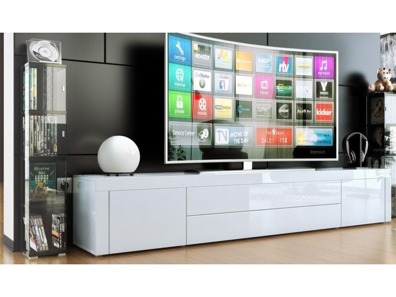 Meuble Bas Pour Tv Blanc Laque Vente De Meuble Tv Conforama