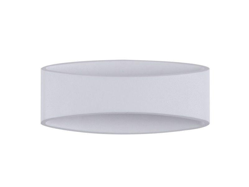 Applique dextérieur design ovale en métal blanc mode vente de