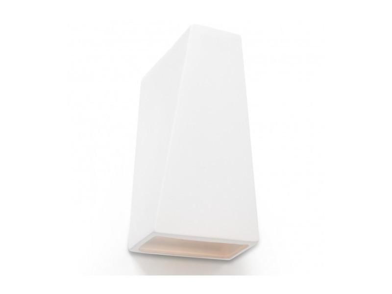 Applique murale futuro céramique blanc 1 ampoule