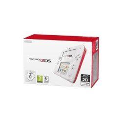 Console nintendo 2ds blanc + rouge