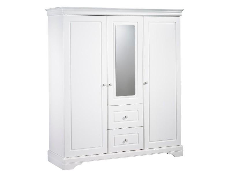 Armoire volumes avec miroir elodie vente de armoire conforama