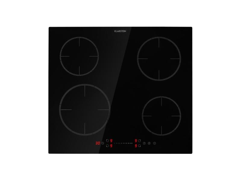 Klarstein virtuosa ecoadapt table de cuisson à induction encastrable - 4 zones - 7200w max. - noir CP13-VirtuosaEco