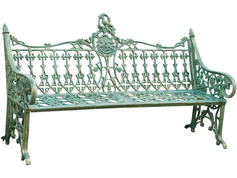 Banc style art nouveau en fonte finition blanc antique l180xpr70xh 105cm