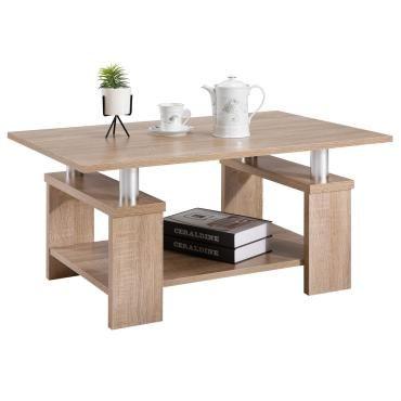 Table basse de salon percy rectangulaire avec tablette m lamin d cor ch ne sonoma vente de - Table basse bar conforama ...