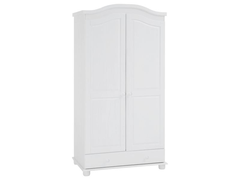 armoire en pin bergen lasur blanc vente de idimex conforama. Black Bedroom Furniture Sets. Home Design Ideas