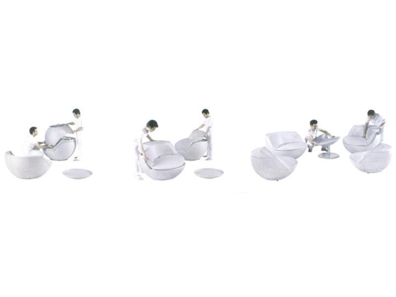 Salon boule empilable avec coussins - Vente de AUBRY GASPARD - Conforama