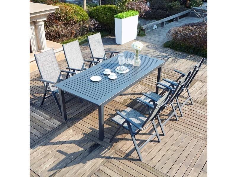 Berana 6 : table de jardin extensible 10 personnes + 6 ...