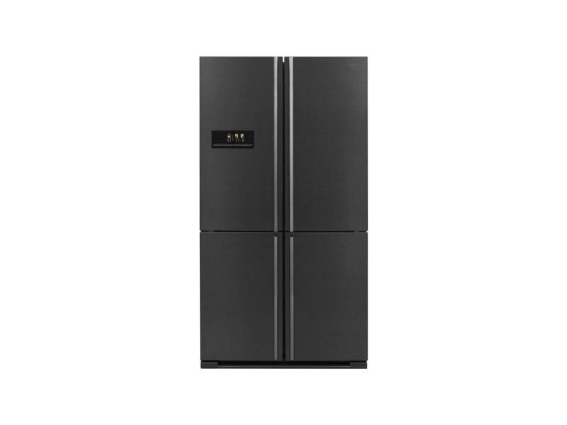 Sharp sj-f1560e0a - refrigerateur 4 portes - 560 l 390 + 170 l - froid ventile no frost - l 91 x h 185 cm - inox noir SHA4974019967868