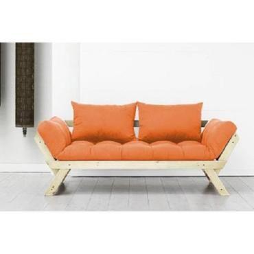 banquette m ridienne style scandinave futon orange bebop couchage 75 200cm 20100851368 conforama. Black Bedroom Furniture Sets. Home Design Ideas