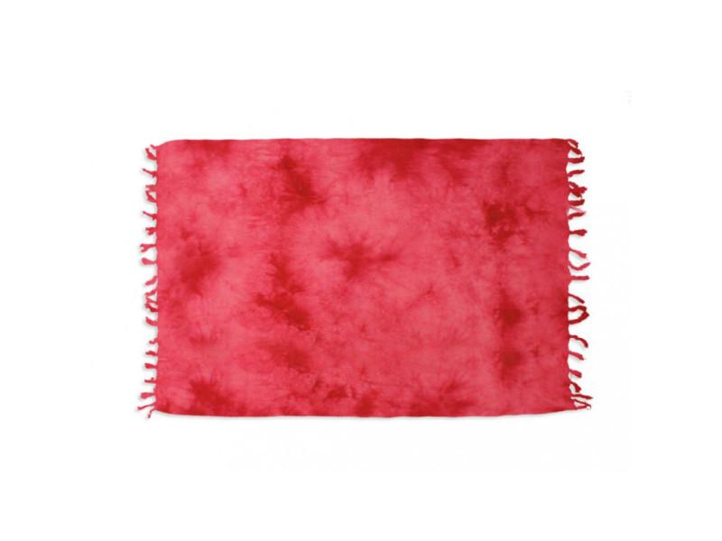 Fouta en coton 140x180 cm tie and dye rouge