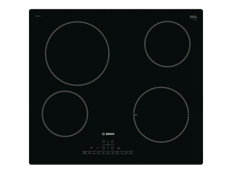 Table de cuisson vitroc ramique 60cm 4 feux 6900w noir pke611fn1e pke611fn1e vente de bosch - Table de cuisson vitroceramique bosch ...