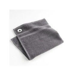 Torchon essuie-main éponge uni top cuisine gris 50 x 50 cm