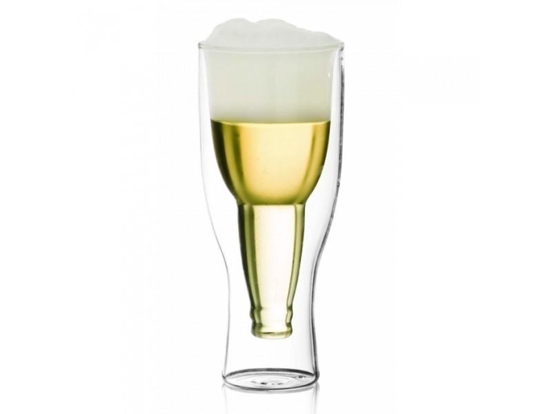 Coffret special verre à bière double - paroi 35 cl