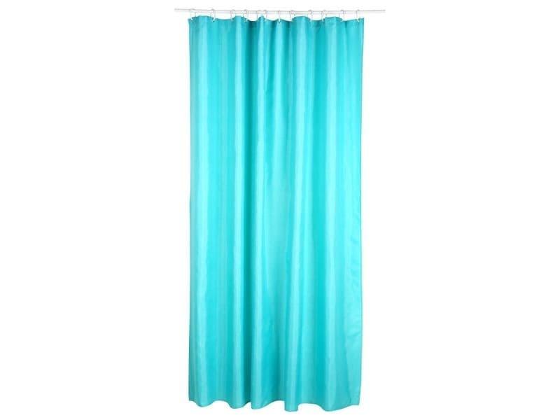 Rideau de douche polyester 180 x 200 cm turquoise vente de sans marque conforama for Rideau turquoise