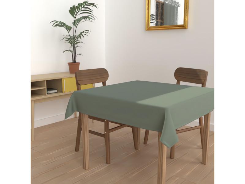 Nappe anti-tâches carrée 140x140 cm alix vert