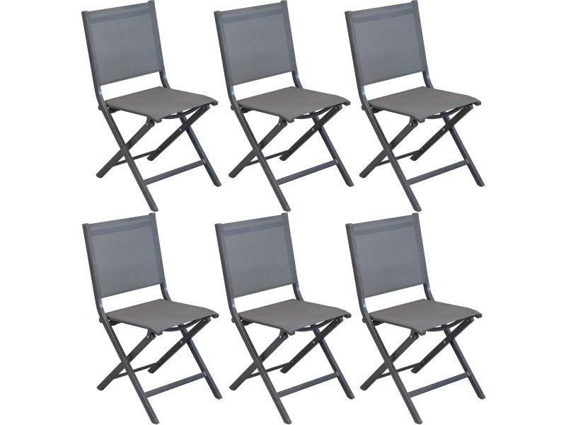 Chaises pliantes en aluminium thema (lot de 6)