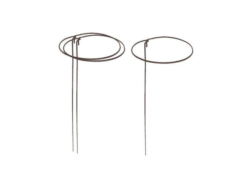 Support à plantes rond en acier 20 cm (lot de 3)