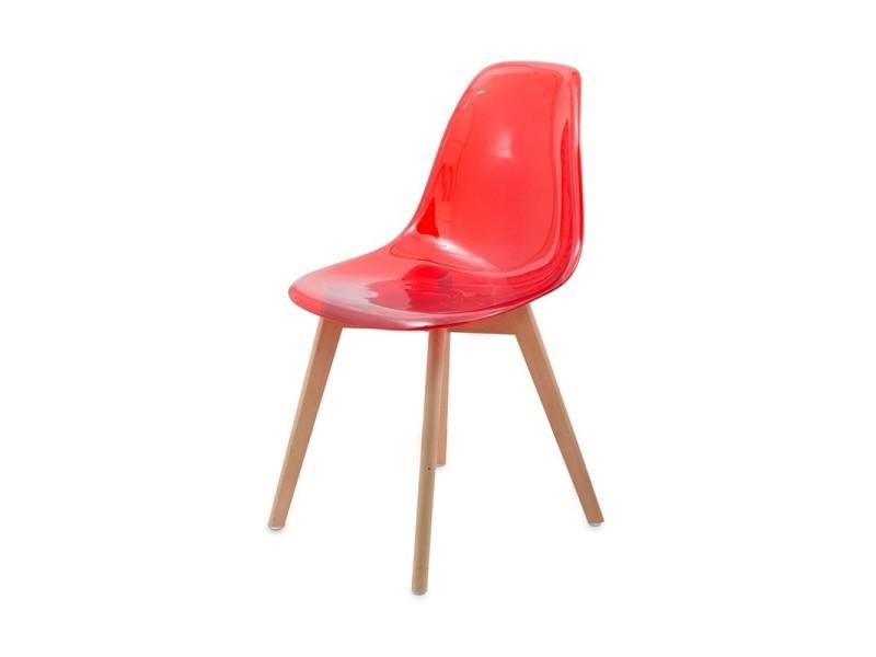 chaise transparente scandinave gasoline avec pieds en bois dhtre light vente de chaise conforama - Chaise Transparente Pied Bois