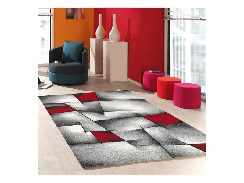 Tapis salon moderne de créateur parlak 3d rouge, noir, blanc ...
