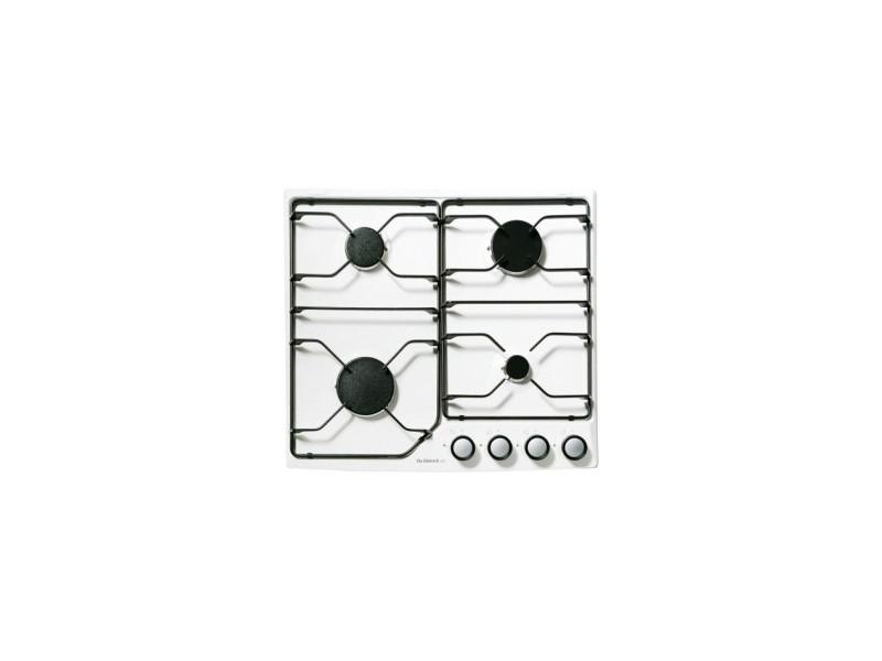 Table de cuisson gaz émail 4 feux blanc - dpe7610w dpe7610w