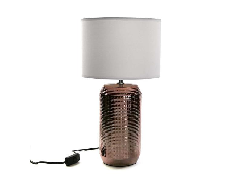 Lampe Marron Socle Socle Lampe Cylindre Avec Cylindre Avec Socle Marron Lampe Avec WH29IED