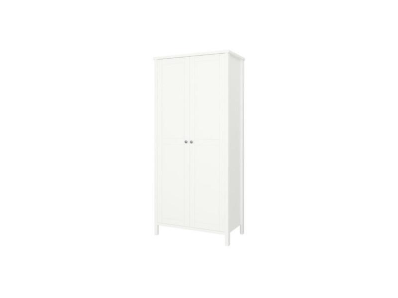 Tromsö armoire 2 portes - laqué blanc mdf - l 89 x p 49,5 x h 195 cm 3741010050510F
