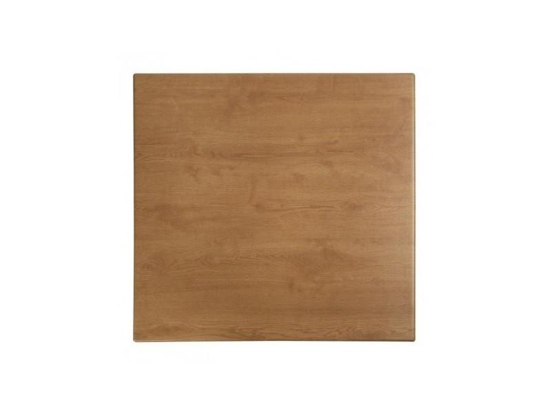 Plateau de table carré chêne 600 mm werzalit